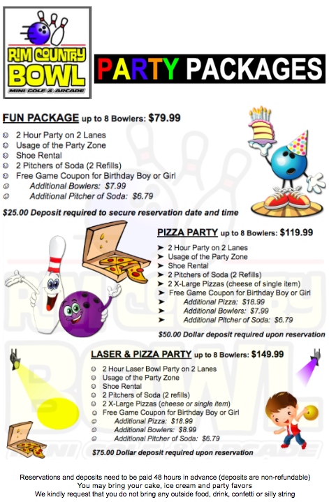 Adult Parties – Rim Country Bowl